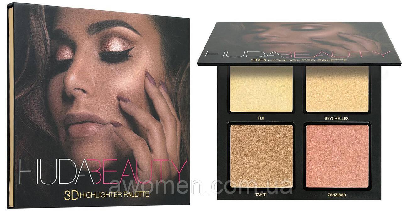 Хайлайтер Huda Beauty 3D Highlight Palette — Golden Sands