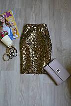 Золотистая юбка в пайетки H&M, фото 2
