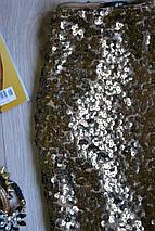 Золотистая юбка в пайетки H&M, фото 3