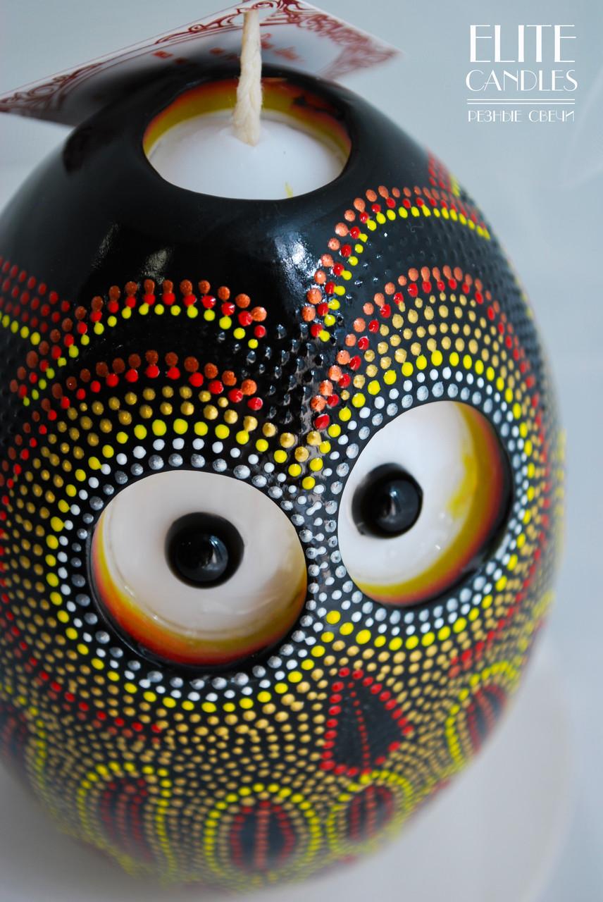 Свеча формы яйца с точечной росписью акриловыми красками от ELITE CANDLES