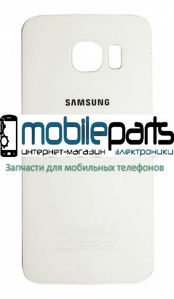 Задняя панель корпуса для Samsung G925F Galaxy S6 EDGE white orig (Белая)
