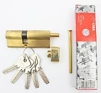Cisa Asix 80мм 35х45 ключ/тумблер латунь (Италия)