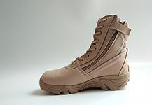 Текстильные песочные тактические ботинки берцы на змейке Delta Cordura (копия), фото 2