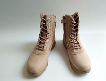Текстильные песочные тактические ботинки берцы на змейке Delta Cordura (копия), фото 3