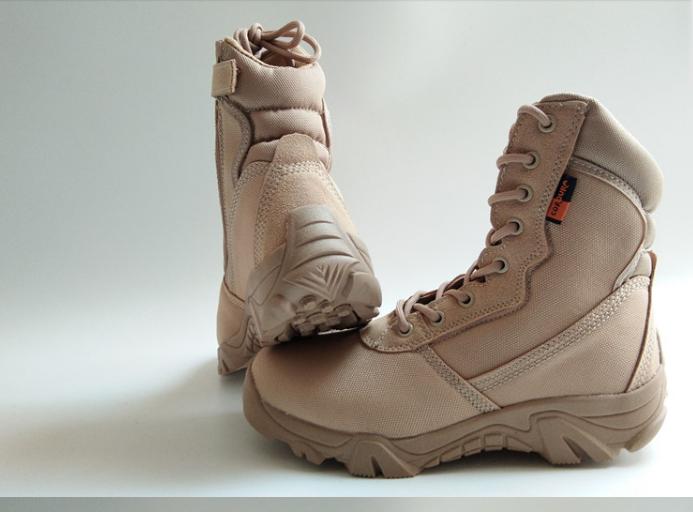 Текстильные песочные тактические ботинки берцы на змейке Delta Cordura (копия)