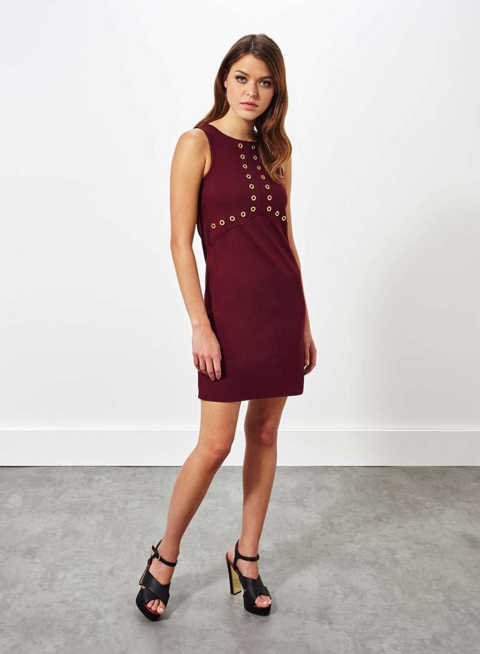 Бордовое платье Miss Selfridge