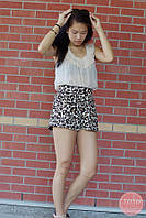Леопардовые шорты на высокой посадке H&M