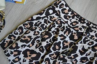 Леопардовые шорты на высокой посадке H&M, фото 2