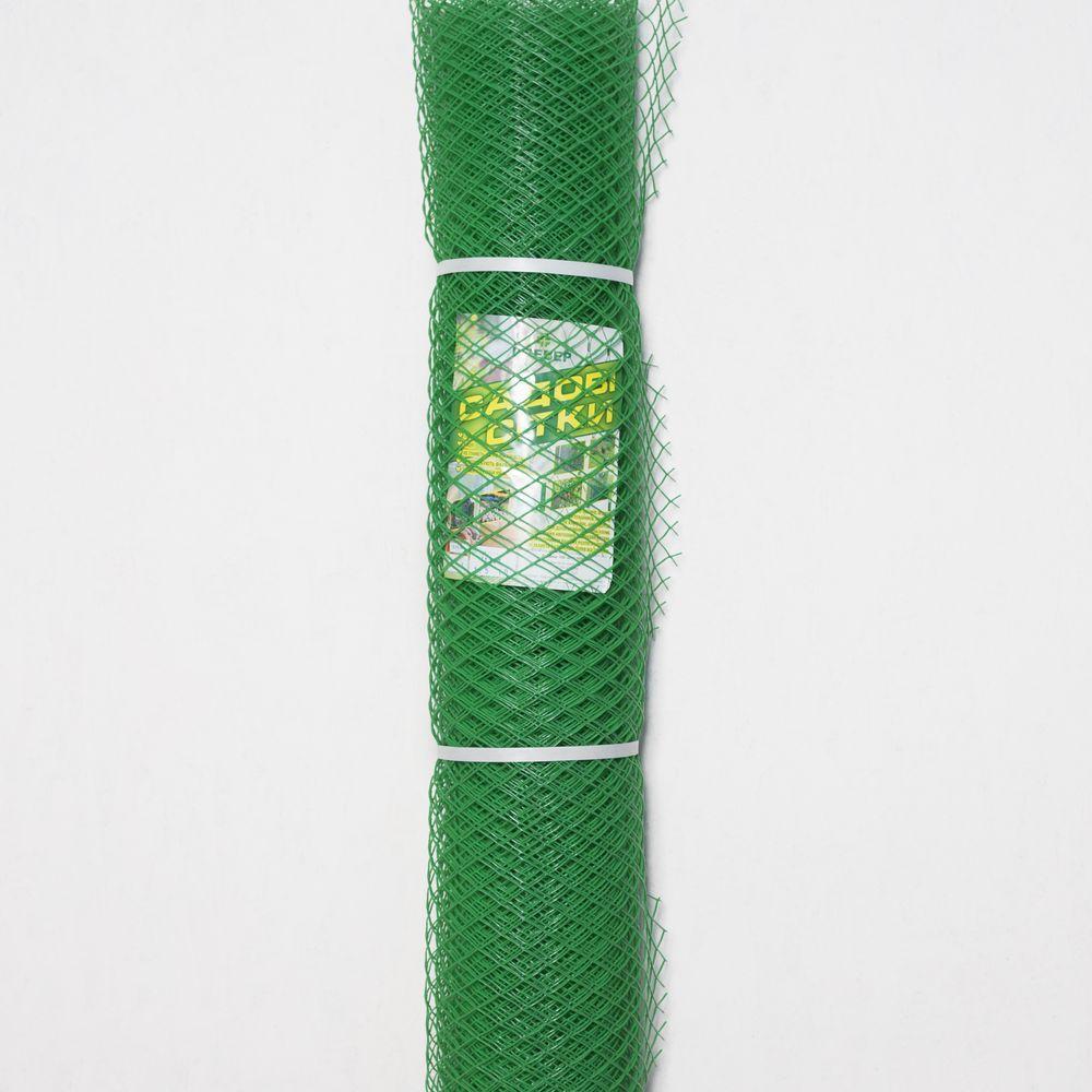 Сетка пластиковая для забора яч.30*30мм, ромб 1,5м*10м (зеленый, хаки)