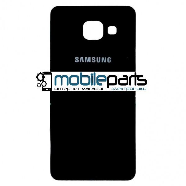 Задняя панель корпуса для Samsung A310F Galaxy A3 black orig (Черная)