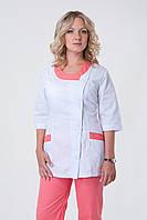 Женский медицинский костюм персикового цвета