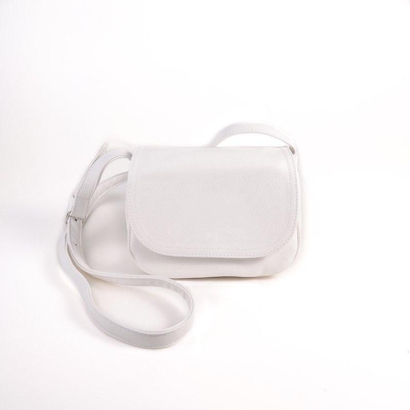 d93fe793917d Белая маленькая сумочка М55-17 кросс-боди через плечо матовая летний  стильный аксессуар на