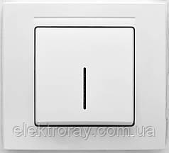 Выключатель с подсветкой Gunsan Moderna белый