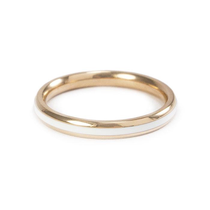 Кольцо с белой керамической вставкой Арт. RN013SL (16)