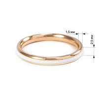 Кольцо с белой керамической вставкой Арт. RN013SL (16), фото 4