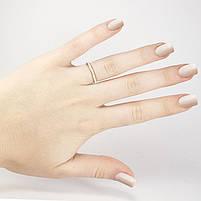 Кольцо с белой керамической вставкой Арт. RN013SL (16), фото 5