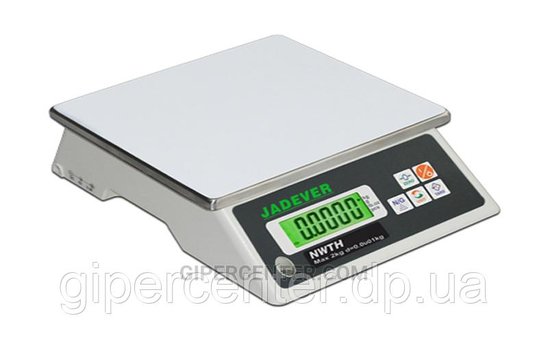 Фасовочные весы Jadever NWTH-10 до 10 кг, d=2 г