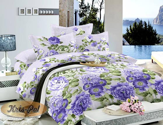 Комплект постельного белья полуторный 150*220 сатин (6814) TM KRISPOL Украина, фото 2