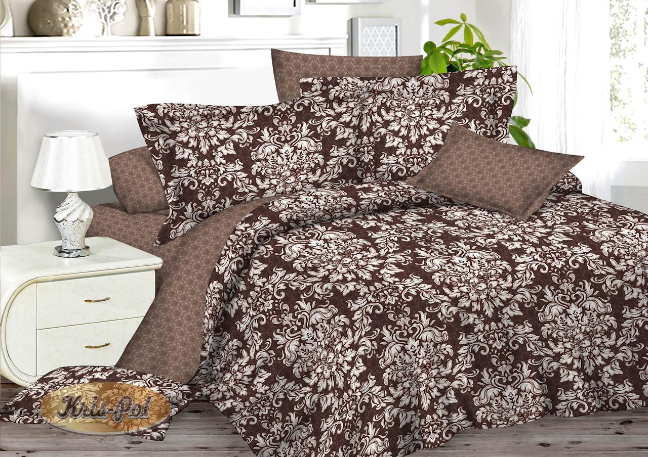 Полуторный комплект постельного белья 150*220 сатин (7002) TM KRISPOL Украина