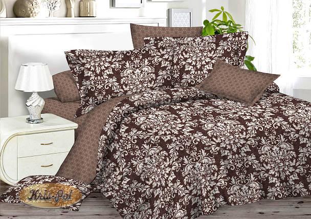 Полуторный комплект постельного белья 150*220 сатин (7002) TM KRISPOL Украина, фото 2