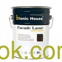 Bionic-House Facade Lasur natural texture-  цветная лазурь-краска для деревянных фасадов 10 л