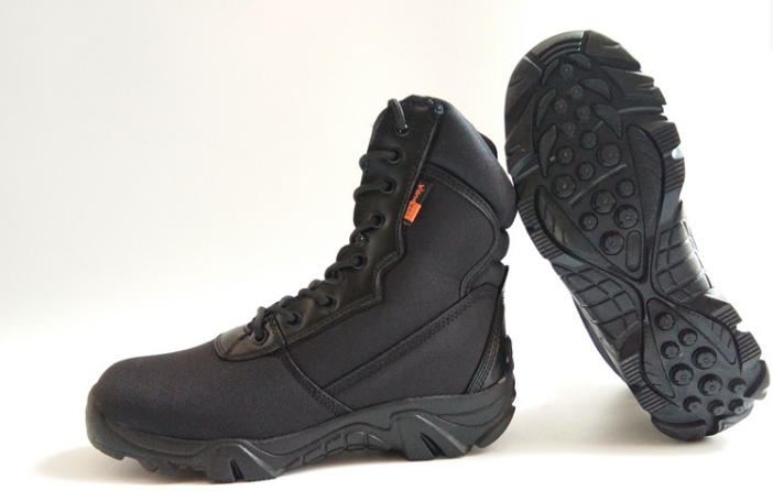 Черные текстильные тактические демисезонные ботинки берцы на змейке Delta Cordura (копия)