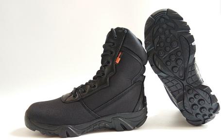 Черные текстильные тактические демисезонные ботинки берцы на змейке Delta Cordura (копия), фото 2