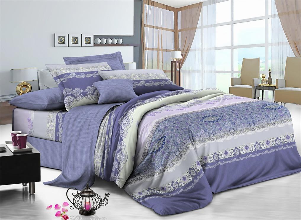 Полуторный комплект постельного белья 150*220 сатин (7468) TM KRISPOL Україна