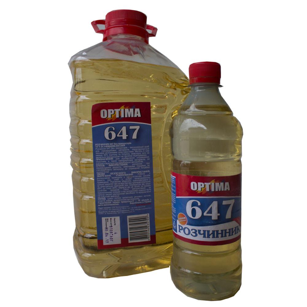 Растворитель 647 OPTIMA 0.4л