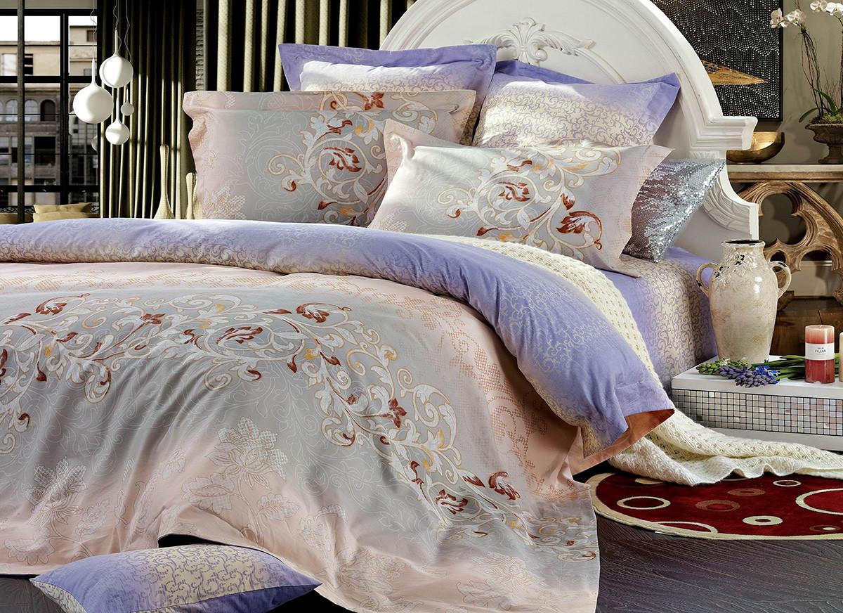 Полуторный комплект постельного белья 150*220 сатин (7472) TM KRISPOL Україна