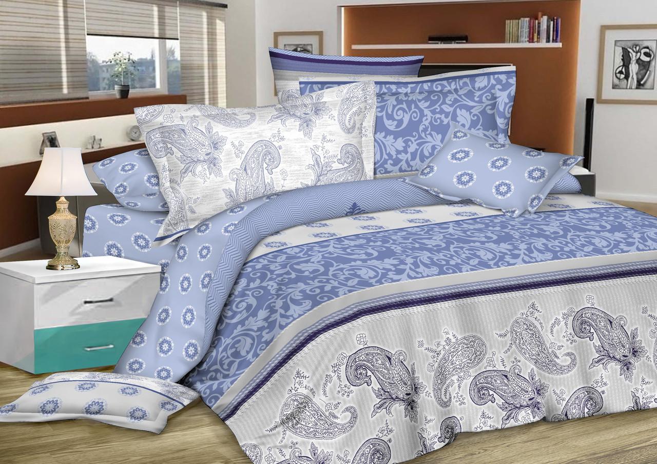 Полуторный комплект постельного белья 150*220 сатин (7229) TM KRISPOL Україна