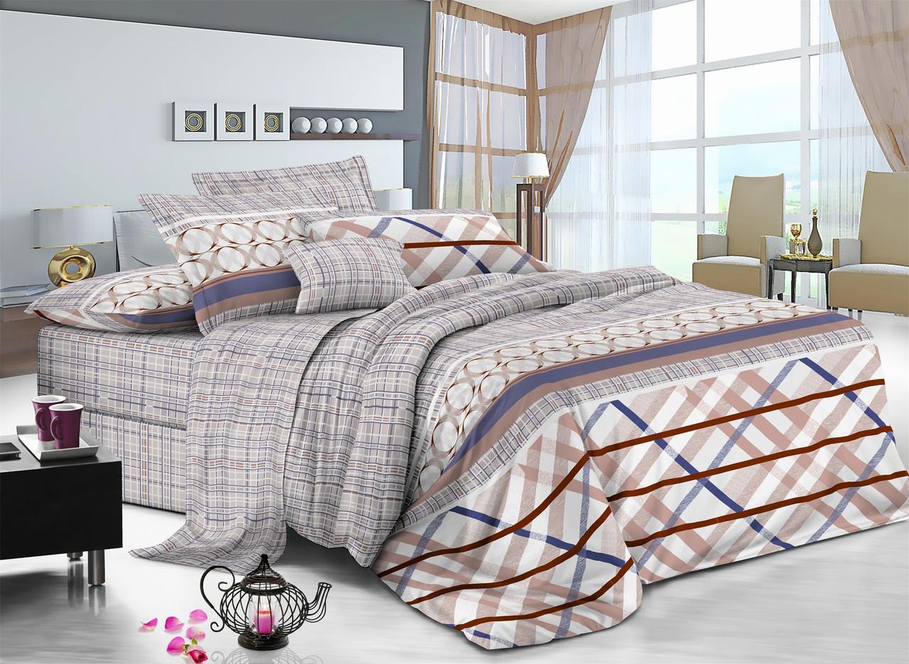 Полуторный комплект постельного белья 150*220 сатин (7327) TM KRISPOL Україна