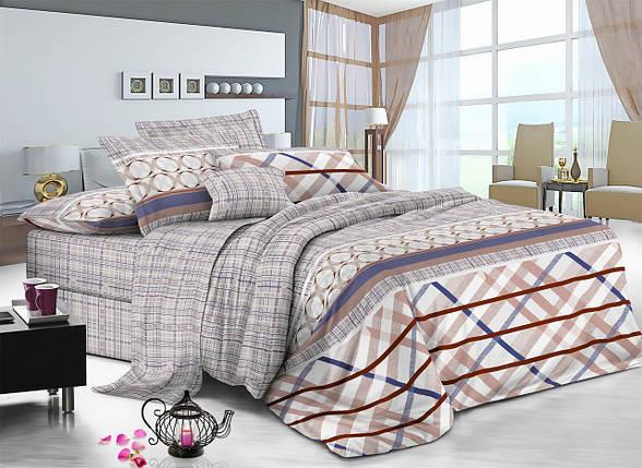 Полуторный комплект постельного белья 150*220 сатин (7327) TM KRISPOL Україна, фото 2