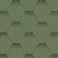 Битумная черепица Акваизол коллекция «Мозаика» Альпийский луг (Зелёный+Чёрная тень)