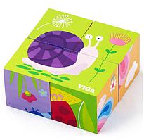 Пазл-кубики Viga toys Насекомые (50160)