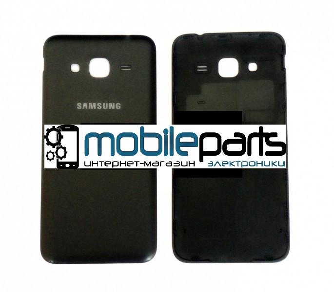 Задняя панель корпуса для Samsung J320F Galaxy black orig (Черная)