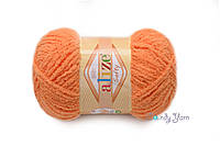 Турецкая пряжа Alize Softy №336 оранжевый