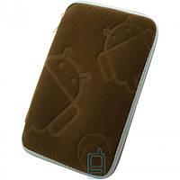 Чехол-сумка 7″ Android бархатный Коричневый