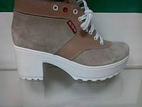 Ботинки женские Olteya осенние, замша,