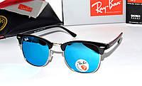 Модные очки солнцезащитные рей бан,Ray Ban Clubmaster (Polarized)