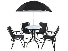 Садовая мебель Milano,зонт,4 кресла,стол