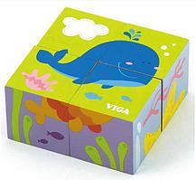 Пазл-кубики Viga toys Подводный мир (50161)