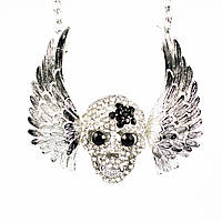 Ожерелье Betsey Johnson Wings Skull копия