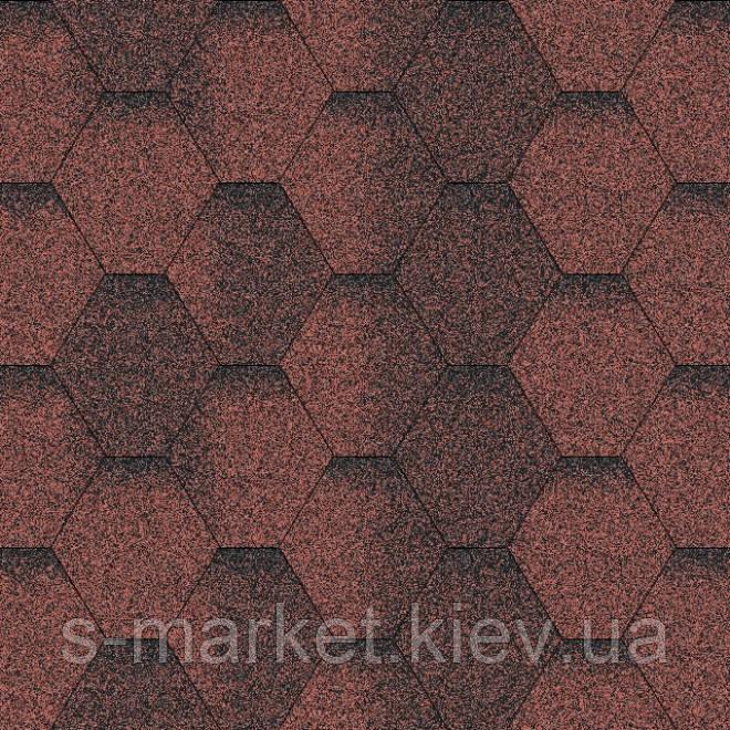 Битумная черепица Акваизол коллекция «Мозаика» Красная ЭКО