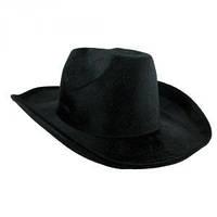 Шляпа Ковбоя велюровая черная