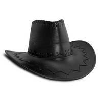 Шляпа Ковбоя кожа черная