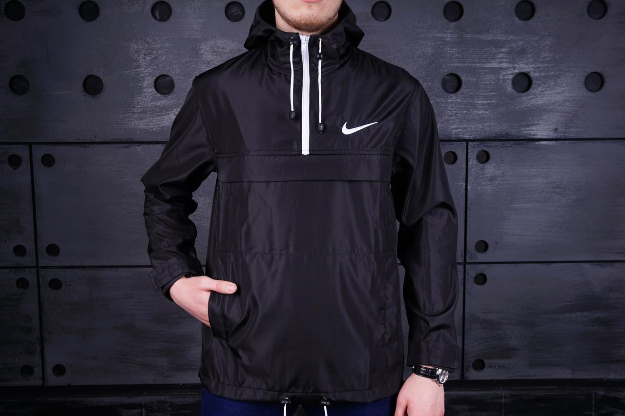 Анорак Nike (Найк), черный, фото 1