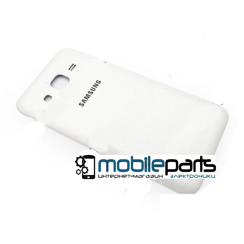 Задняя панель корпуса (крышка) для Samsung J200H Galaxy J2 white orig (Белая)