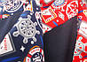 Костюм спорт детский для мальчика принт с капюшоном манжеты, фото 2