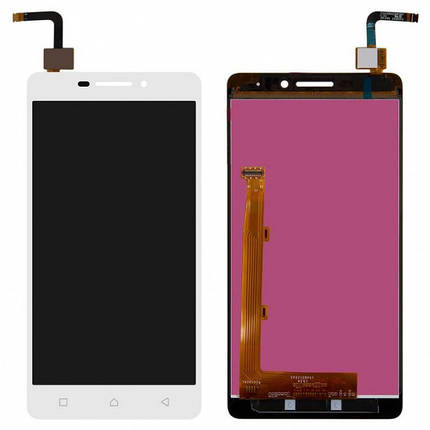 Дисплей (экран) для Lenovo P1m Vibe (P1mA40) + с сенсором (тачскрином) белый Оригинал, фото 2